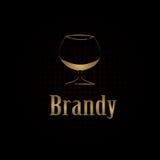 Het menuachtergrond van het cognacglasontwerp Royalty-vrije Stock Afbeeldingen