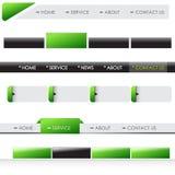 Het menubars van de website Stock Foto's