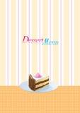 Het menumalplaatje van het dessert Stock Fotografie