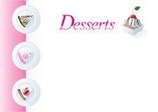Het menumalplaatje van het dessert Stock Afbeelding