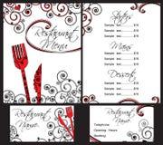 Het menumalplaatje van het restaurant Stock Afbeeldingen