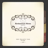 Het menuontwerp van het restaurant Stock Foto's