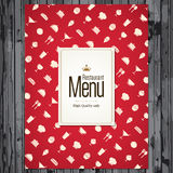 Het menuontwerp van het restaurant Royalty-vrije Stock Foto