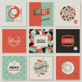 Het menuontwerpen van het restaurant. Retro-gestileerde vectoren Royalty-vrije Stock Foto's