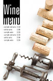 Het menuproject van de wijnmakerij Stock Afbeeldingen