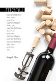 Het menuproject van de wijnmakerij royalty-vrije stock foto's