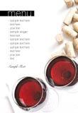 Het menuproject van de wijnmakerij Royalty-vrije Stock Afbeelding