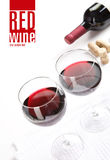 Het menuproject van de wijnmakerij Royalty-vrije Stock Afbeeldingen