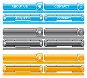 Het menutechnologie van het Web Stock Fotografie