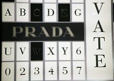 Het merk van de luxe - Prada Stock Afbeelding
