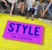 Het merk vormt een beeld de Inspiratie van Concept van de Ontwerpstijl royalty-vrije stock afbeelding