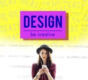 Het merk vormt een beeld de Inspiratie van Concept van de Ontwerpstijl stock fotografie