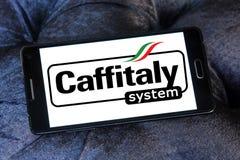 Het merkembleem van het Caffitalysysteem stock foto