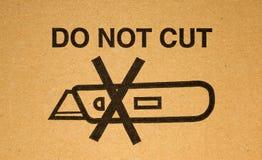 Het waarschuwen: snijd niet stock fotografie