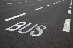Het merken van de weg stock afbeeldingen