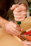 Het merken van hout Royalty-vrije Stock Afbeeldingen