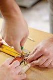 Het merken van hout Royalty-vrije Stock Foto