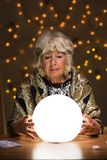 Het merken van toekomst aan magische bal royalty-vrije stock fotografie