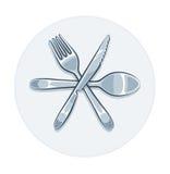 Het mes en de lepel van de keukengereivork vector illustratie