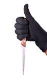 Het mes van de moordenaar Stock Afbeeldingen