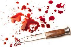 Het mes van de moordenaar stock afbeelding