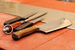 Het mes van de slager Royalty-vrije Stock Fotografie