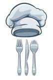Het messenlepel en koks GLB van de keukengereivork vector illustratie