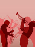 Het messingsmusicus van de jazz stock illustratie