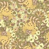 Het met de hand gemaakte patroon van Mehenditracery, Naadloos, Stock Foto