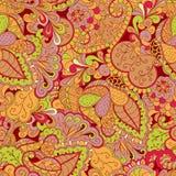 Het met de hand gemaakte patroon van Mehenditracery, Naadloos, Royalty-vrije Stock Foto's