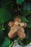 Het met de hand gemaakte stuk speelgoed van de peperkoekmens Royalty-vrije Stock Afbeelding