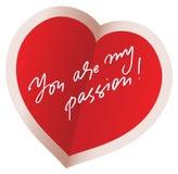 Het met de hand geschreven van letters voorzien voor de kaart van de valentijnskaart` s dag Vector vector illustratie