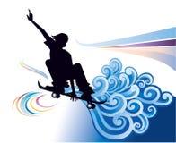 Het met een skateboard rijden royalty-vrije illustratie