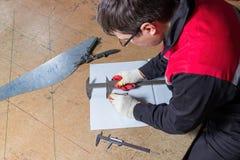 Het metaal die, slotenmaker merkt een blad van metaal merken royalty-vrije stock foto's