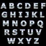 Het metaal glanzende brieven van het chroom Stock Foto's
