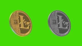 Het metaal van Cryptocurrencymuntstukken, Litecoin royalty-vrije illustratie