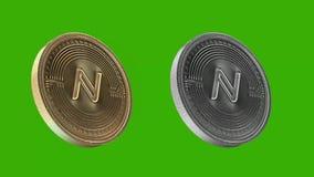 Het metaal van Cryptocurrencymuntstukken, Naammuntstuk stock illustratie