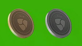 Het metaal van Cryptocurrencymuntstukken, Nem muntstuk vector illustratie