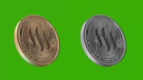 Het metaal van Cryptocurrencymuntstukken, Steem royalty-vrije illustratie