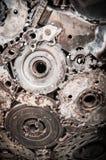 Het metaalachtergrond van de lassennaad Stock Foto's