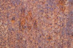 Het metaalachtergrond van het roest rode oranje blad Stock Foto's