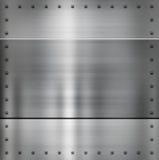 Het metaalachtergrond van het staal Royalty-vrije Stock Foto