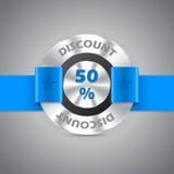 50% het metaalkenteken van de kortingsverkoop Royalty-vrije Stock Fotografie
