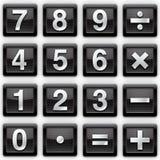 Het metaalpictogrammen van aantallen Stock Afbeelding