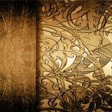 Het metaalplaat van Grunge met ornament stock illustratie