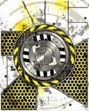 Het metaalschil van Grunge stock illustratie