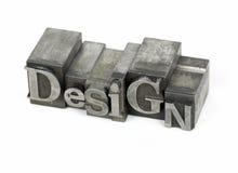 Het metaalwoord van het ontwerp Stock Afbeeldingen