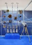 Het meten van antennes aan de microgolfwaaier royalty-vrije stock fotografie