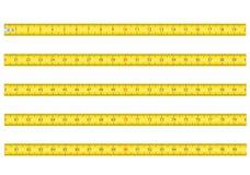 Het meten van band voor vectorillustrati van de hulpmiddelroulette Royalty-vrije Stock Foto's