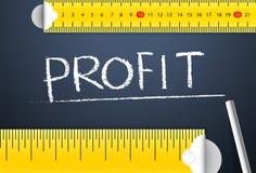 Het meten van Bedrijfswinst en Winstbeheer Royalty-vrije Stock Foto
